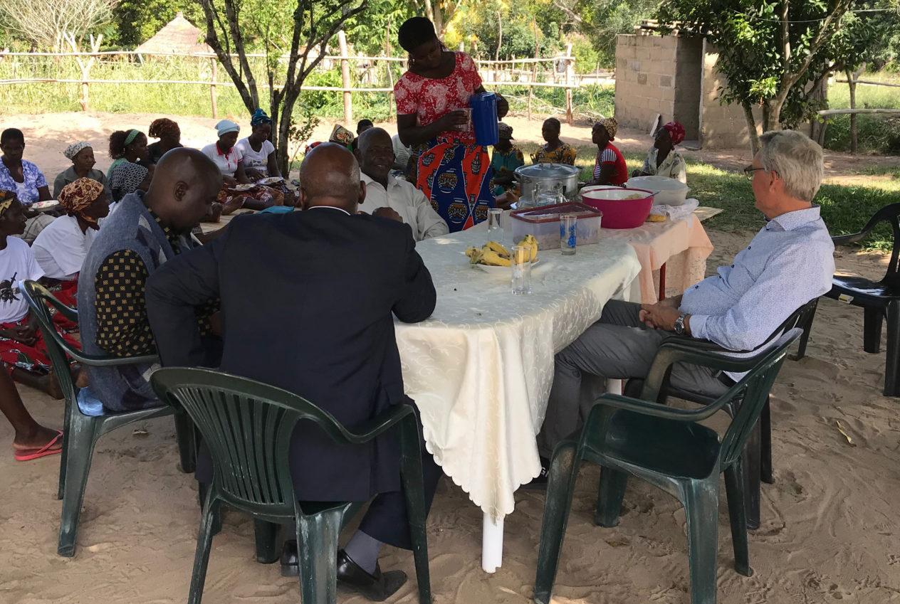Jan-Eric Larsson på plats i XaiXai för att tillsammans med vår systerkyrka planera för hjälpinsats i Beira.