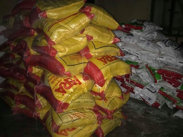 Inköp av ris och majsmjöl